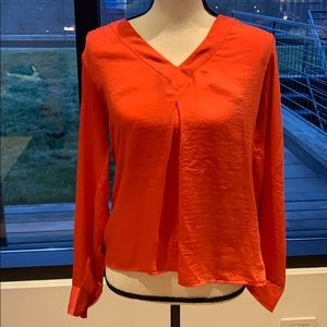 Calvin Klein orange blouse small